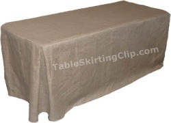 Jute Burlap Fitted Tablecloths