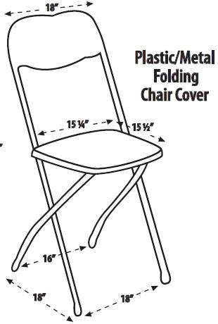 plastic or metal folding chair size