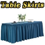 Table Skirts from TableSkirtingClip.com