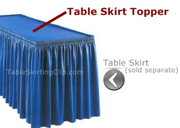 Table Skirt Toppers