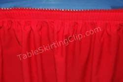 Table Skirt is now on your table