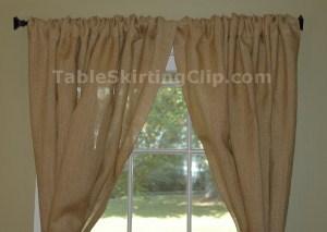 Burlap Drapes and Burlap Curtains