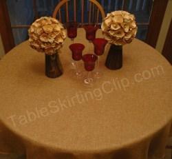 Designer Faux Burlap Tablecloths