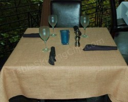 Burlap Table Linen from TableSkirtingClip.com