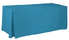 Fitted Tablecloth Covers provide full coverage on your table. Beautifully drape your entire table top and sides with one easy-to-use tablecloth cover.