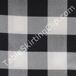 Black White Checker Tablecloths