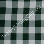 Hunter Green Checker Tablecloth