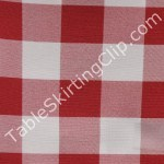 Red and White Poly Check Tablecloths