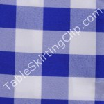 Royal Blue Picnic Checker Table Cloths