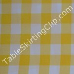 Checkered Tablecloths in Yellow and White