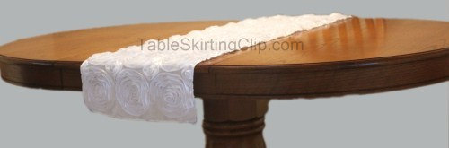 Rosette Satin Table Runners