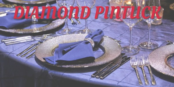 Unique and gorgeous Diamond Pintuck tablecloths in round, square, and rectangular sizes
