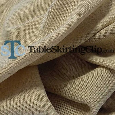 "118"" Round Equinox Faux Burlap Tablecloth"
