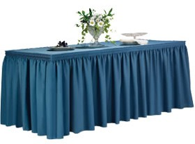 17' Ultimate Shirred Pleat Table Skirt