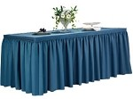 14' Ultimate Shirred Pleat Table Skirt