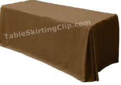 "30""W x 96""L x 29""H Designer Faux Burlap Fitted Tablecloth"