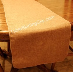 "18"" x 72"" Faux Burlap Table Runner"