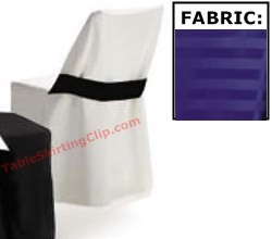Poly Stripe Folding Chair Covers with Half Band (Wood Chair)