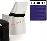 Poly Stripe Folding Chair Covers with Half Band (Plastic/Metal Chairs)