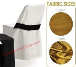 Reversible Folding Chair Covers with Half Band (Wood Chair)