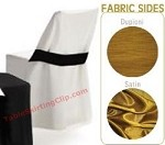 Reversible Folding Chair Covers with Half Band (Plastic/Metal Chairs)