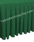 Clearance 17' Ultimate Box Pleat Table Skirt - Cobalt