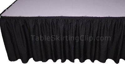 14' Executive Table Skirt - Shirred Pleat