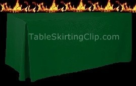 6 Foot Flame Retardant Fitted Tablecloth