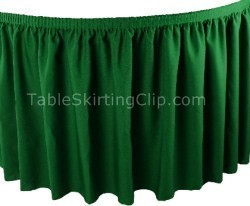 17' Premium Flame Retardant Table Skirt