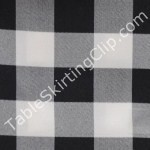 6 Foot Checkered Fitted Tablecloth
