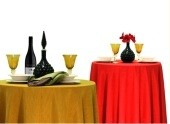 "96"" Round Reversible Tablecloth"