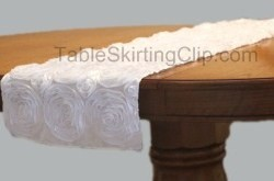 "13"" x 120"" Rosette Satin Table Runner"