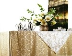17' Saxony Royalty Damask Table Skirt