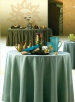 8 Foot Spun Poly Fitted Tablecloth