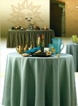 6 Foot Spun Poly Fitted Tablecloth
