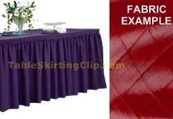 17' Diamond Pintuck Shirred Pleat Table Skirt