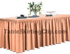 21' Spun Poly Shirred Pleat Table Skirt