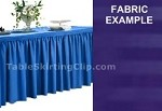 14' Poly Stripe Shirred Pleat Table Skirt
