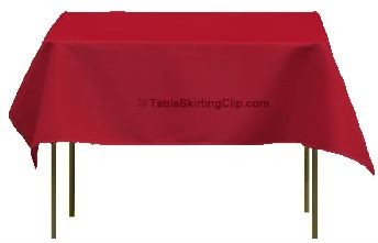 "Clearance 54"" x 54"" Square Ultimate Tablecloths - Various Colors"